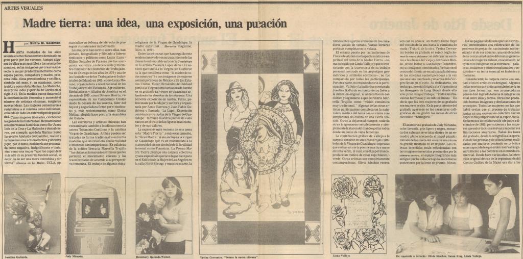 Madre Tierra La Opinion 1983