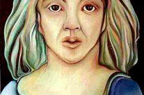 Mujer con Ojas
