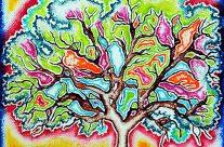 Electric Oak: Glowing Sunrise