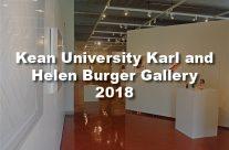 Kean University Karl and Helen Burger Gallery 2018